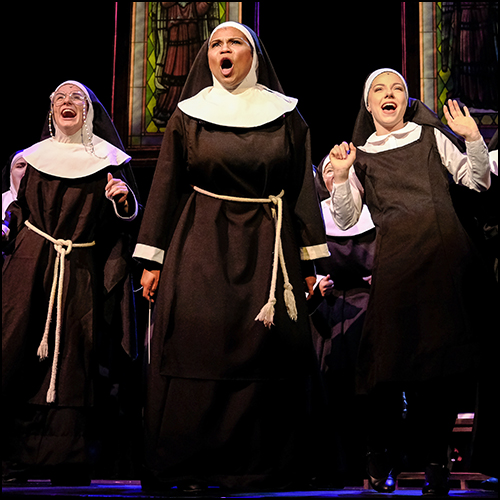 Wayne State undergraduate students perform a scene from Sister Act
